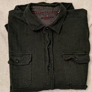 Woolrich Forrest Green XL Button up Flannel shirt